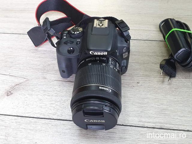 Canon EOS 100D + Obiectiv 18-55mm