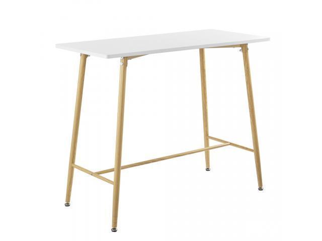 [en.casa]® Masa bar Enkoping Weib, 110 x 50 x 90 cm, MDF/metal, alb