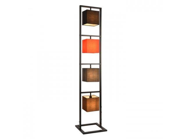 [lux.pro] Lampadar Tavira, 4 x E14, max. 40W, metal tesatura, negru, rosu, gri, maro