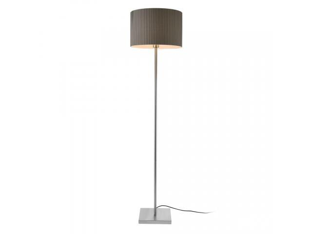 [lux.pro]® Lampadar Coimbra, 1 x E27, max. 60W, 151 cm, metal/tesatura, gri