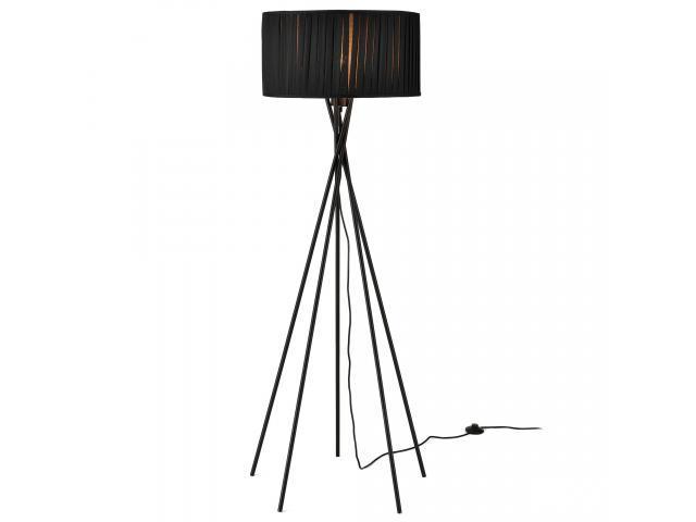 [lux.pro]® Lampa de podea eleganta - Black Mikado 1 x E 27 - 60W - negru