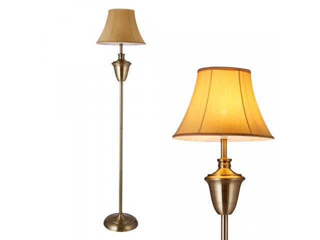 [lux.pro]® Lampa de podea eleganta - Madrid 1 x E 27 - 60W - bej / maro