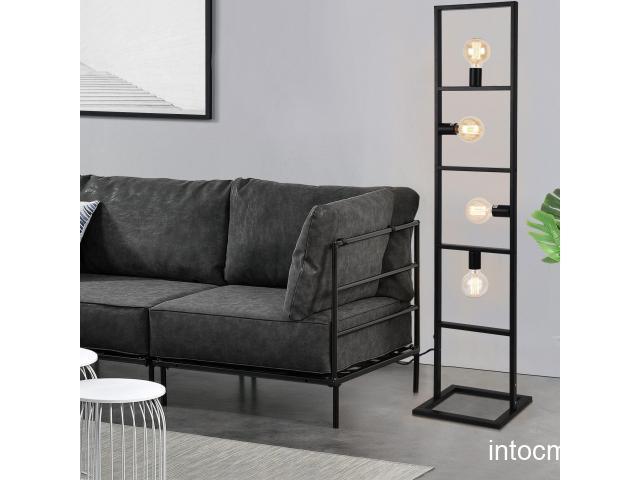 [lux.pro]® Lampa podea Cosmic metal - negru - cu 4 fasunguri