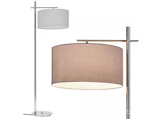 [lux.pro]® Lampa de podea eleganta - London 1 x E 27 - 60W - gri / crom