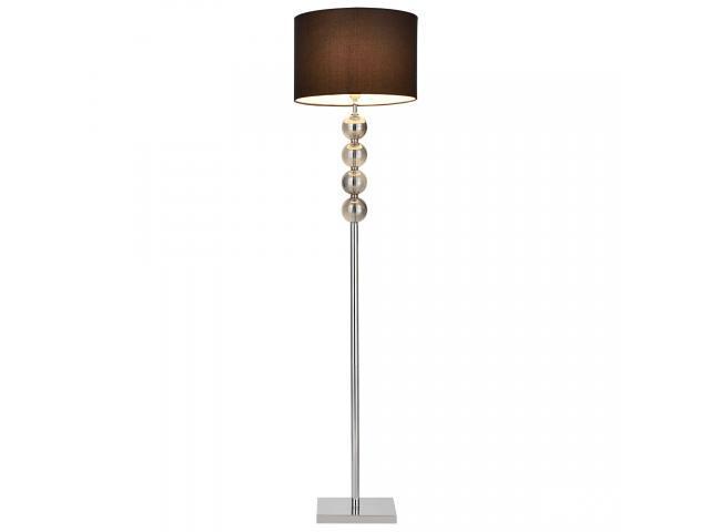 [lux.pro]® Lampa de podea eleganta - Spheridern 1 x E 27 - 60W - crom /negru