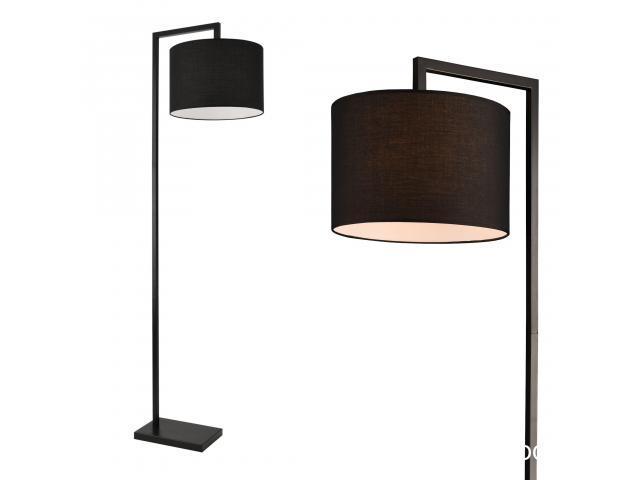 [lux.pro] Lampadar Düsseldorf, 1 x E27, max. 60W, 161 cm, metal/tesatura, negru