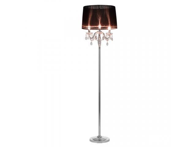 [lux.pro]® Lampa de podea eleganta - Noble Black 3 x E 14 - 40W - negru / crom