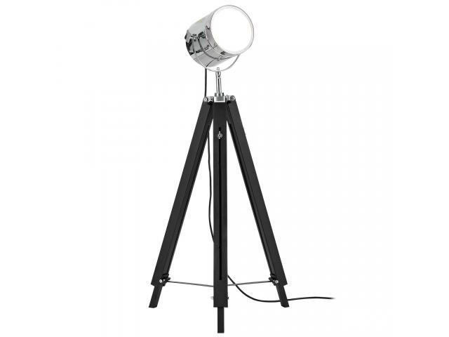 [lux.pro]® Lampa de podea eleganta - Tripod 1 x E 27 - 60W - crom / negru