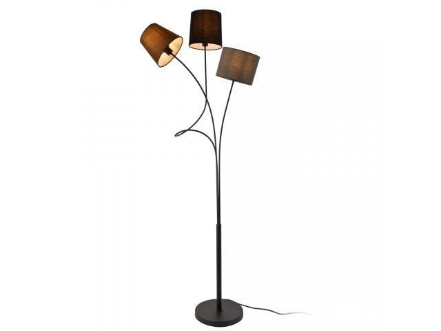 [lux.pro]® Lampadar Treviso, 3 x E14, max. 40W, 145 cm, metal/tesatura, maro/negru/gri
