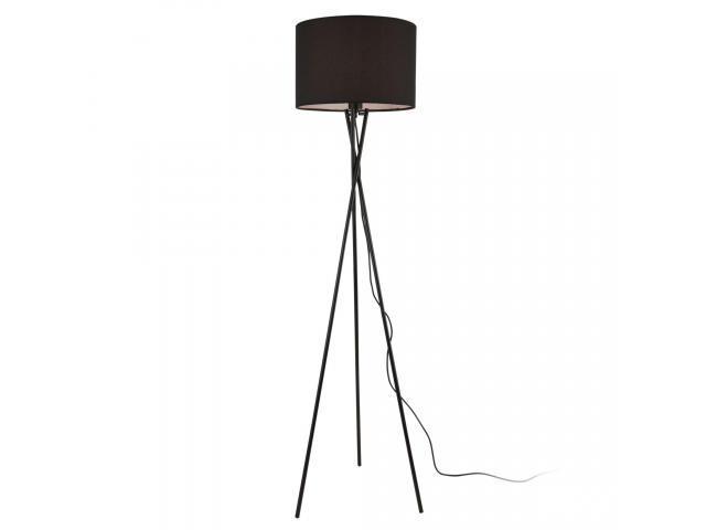 [lux.pro]® Lampa de podea Pärnu, 154 cm, 1 x E27, max. 60W, metal/textil, negru