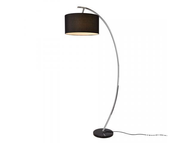 [lux.pro]® Lampadar Steiermark, 153 x 40 cm, 230 V, 1 x E27, max. 60W, tesatura/metal/marmura, negru