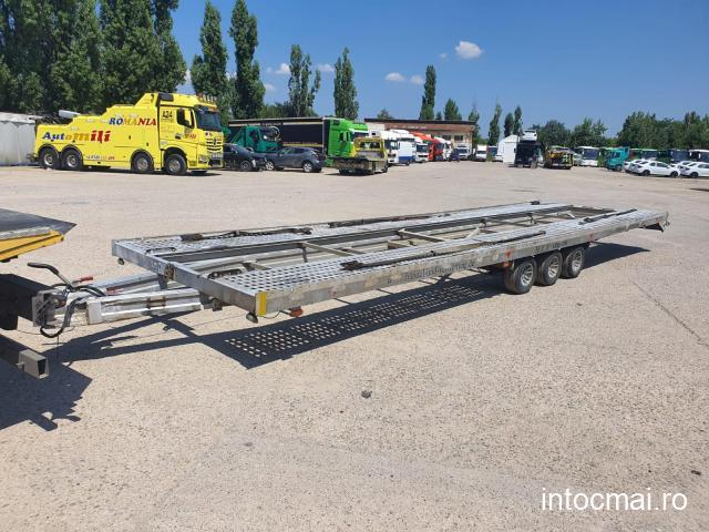 Remorca FIT-ZEL Euro 35, an 2008, transport 2 auto , max. 3,5 tone