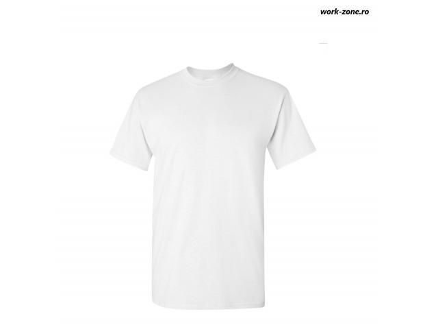 Tricou unisex, Gildan, 100% din bumbac, pentru adulți, alb
