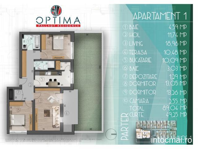Ultimele 3 apartamente de 3 camere decomandate cu gradina proprie Sector 3