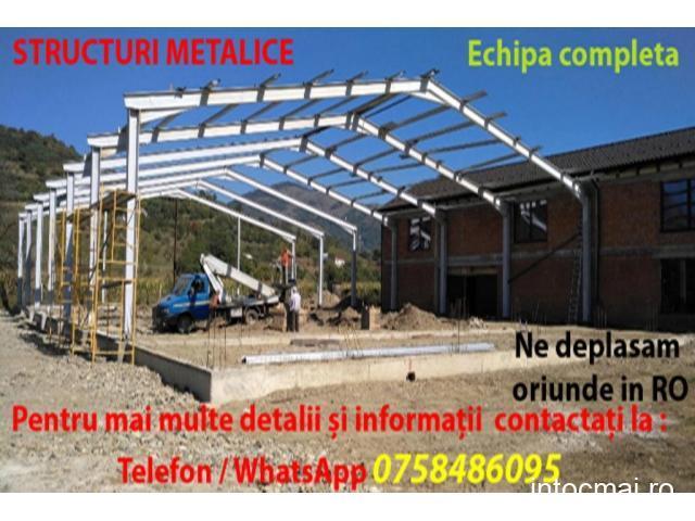 Hale industriale - Construcții metalice: Vanzare, constructie si proiectare. Echipa completa