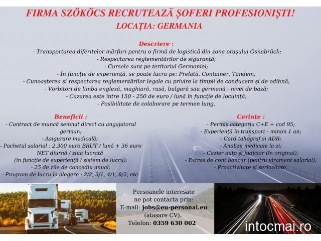 Firma SZOKOCS recruteaza soferi profesionisti